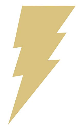 (Lightning Bolt (Style 1) Unfinished MDF Wood Cutout Variety of Sizes USA Made Kids Home Decor (12