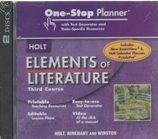 Elements of Literature: One Stop Planner with Test Generator and State Specific Resources CDROM Grade 9 Third Course