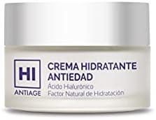 Hi Antiage Crema Hidratante Antiedad, con Ácido Hialurónico y Factor Natural de Hidratación, Crema Hidratante para Pieles Maduras con Acción Protectora y Reafirmante 50 ml