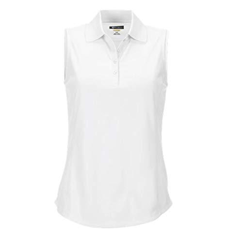 Greg Norman Women's Protek Micro Pique Sleeveless Polo, White, ()
