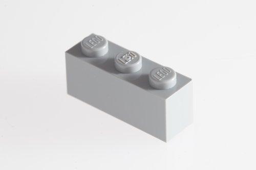 200x Lego Medium Stone Grey (Light Grey) 1x3 Bricks Super Pack