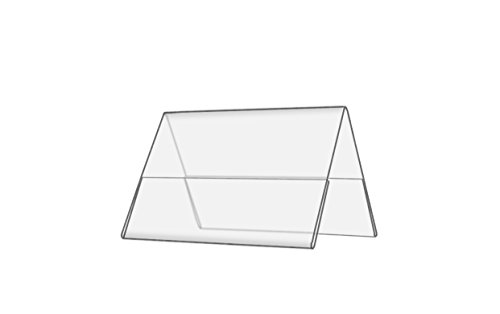 Marketing Holders Double-sided, Clear Acrylic Table Tent 6 x 4 Inches (Pack of (Desk Tent)