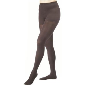 Women's Opaque 20-30 mmHg Firm Support Pantyhose Size: Large, Color: Classic Black by JOBST