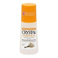 (Crystal Deodorant Essence Roll-On 2.25oz Chamomile/Green Tea (2)