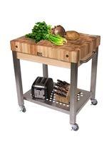 Cucina Americana Technica Kitchen Cart with Butcher Block Top Counter Top Height: 4