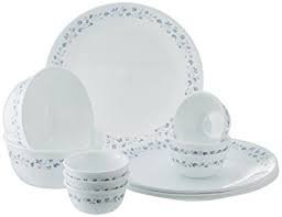 Corelle India Impressions Lilac Blush Dinner Set, 14-Pieces,