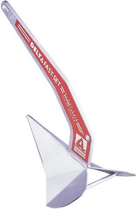 Delta Fast Set Galvanized Anchor Anchor Weight 22 lbs. - Lewmar Boat Anchor