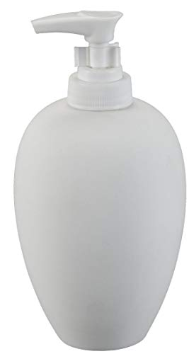 Creative Hobbies Classic Soap Dispenser, Case of 6, Unfinished Ceramic Bisque, with How to Paint Your Own Pottery Booklet