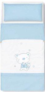 pirulos 34013013–Nordic, Design Bär Star, Baumwolle, 72x 142cm, weiß und blau