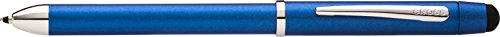 Cross Tech3+ Metallic Blue Multi-Function Pen with Chrome-Plated Appointments, Stylus, and 0.5mm Lead (Slim Pen And Pencil Set)