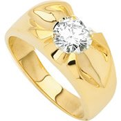 Created Moissanite Gents Ring - 2