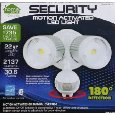 LED Outdoor Security Floodlight with Dusk to Dawn Light Sensor, Motion Activated Protection, Super Bright, White