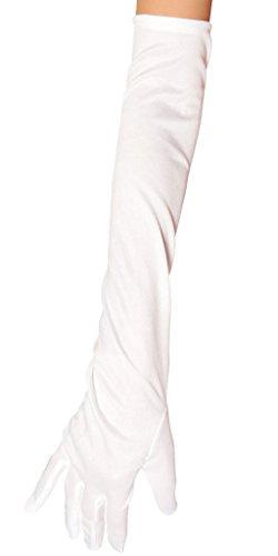 Marilyn Monroe Satin Gloves - White - One