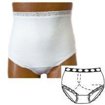 OPTIONS Ladies' Basic with Built-In Barrier/Support, White, right stoma, Medium 6-7, Hips 37'' - 41'' (Single [Each-1])