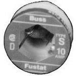 Fuse Plug Slow Blow Acting 2.5A 125V Threaded Socket Plug 29.46 X 31.75mm Box, (Pack of 4) - SA-2-1/2