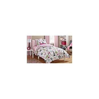 af3a9047a1fde Amazon.com  Mainstays Kids Paris Bed in a Bag Bedding Set - TWIN ...