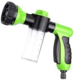 Gxbld 2020 Espuma de Coches Lavadora pulverizador Manguera de jardín Boquilla del rociador con 8 Modos de un Coche for Mascotas Plantas arandela de la presión (Color : Verde)