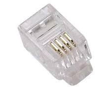 UbiGear 100 Pcs Lot Cat3 Telephone Connector End Rj11 6p4c Modular Plugmodular Solid Connector, Stranded 100 Pack