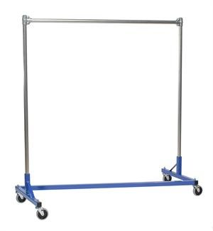 Heavy Duty 5ft Z-Rack - Single Rail with 5ft Uprights (Silver/Blue) (67''H x 6... by Quality Fabricators (Image #1)