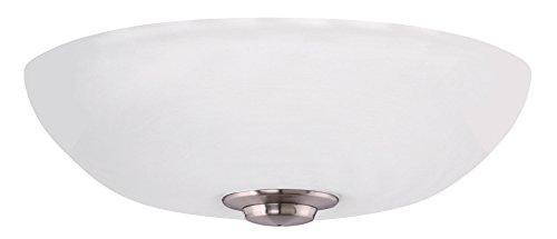 Ceiling Fan Emerson Silver (Emerson LK150OMBS Harlow Opal Matte Light Fixture, Brushed Steel, 80 Piece)