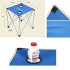 AOTU Outdoor Leisure Aluminum Alloy Folding Table Blue/Red/Green by Dressffe (blue)