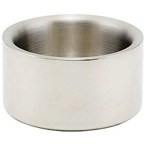 Winco DWCC-5, 5-Inch Diameter Stainless Steel Solid Double-Wall Wine Coaster with Satin Finish ()