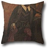 The Oil Painting Francisco José De Resende - Tasso In Prison Pillow Covers Of ,16 X 16 Inches / 40 By 40 Cm Decoration,gift For Teens Boys,dinning Room,saloon,relatives,father (twice (How To Make A Saloon Girl Costume)