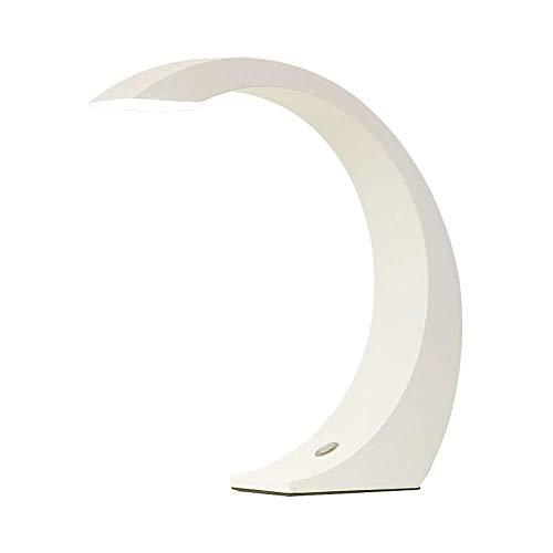 ZAQXSW Creative Touch Lampara de LED Simple decoracion casera Moderna Cama Escritorio de Lectura del Dormitorio de Noche Lampara Blanca
