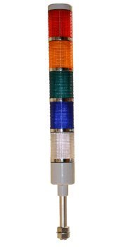 American LED-gible LD-5225-100 LED Tower Light, 24V, Red/Yellow/Green/Blue/White, Steady by LEDAndon