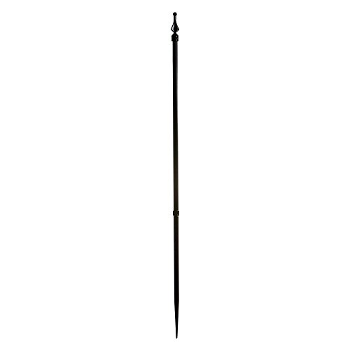 Specrail Roxbury ROXBURY24P Aluminum Spike Post Fence with Finial Cap, 39-Inch, Black