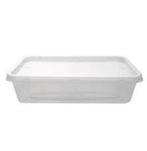 GSL - 10 x Large 1000ml Reusable, Microwave, Freezer Safe Plastic Containers, Ideal for Lunch Boxes, Food Grade Microwavable Containers + Lids for Batch cooking ready meals, Chilli, pasta, rice, curry, Potatoes, Take Aways Satco
