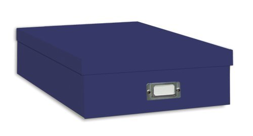 Pioneer Jumbo Scrapbook Storage Box, Blue by Pioneer Photo Albums