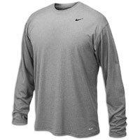 Nike Men's Legend Long Sleeve Tee, Grey, XL by Nike