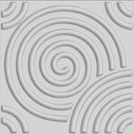 Circle Design Glue on 3d Wall Panel - Box of 10 Piece (26.67sqft)