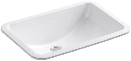 Kohler 2214-G-0 Vitreous china undermount Rectangular Bathroom Sink, 22.5 x 16.19 x 9.31 inches, -