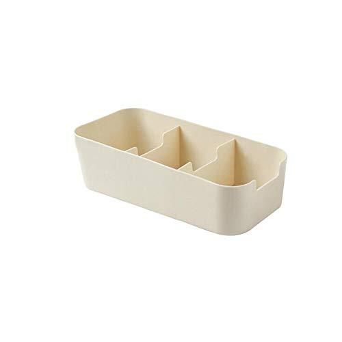 Hot Sale!DEESEE(TM)Grid Organizer Storage Box Tie Bra Socks Drawer Cosmetic Divider Kitchen (Beige)]()