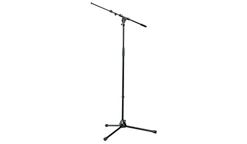 K & M Microphone Stand with Telescopic Boom Arm (Mic Stand Professional)