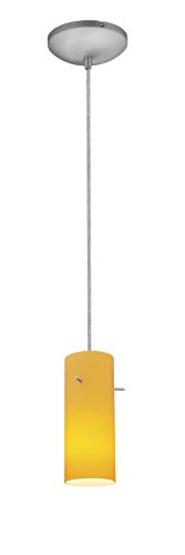Brushed Stainless Steel Cylinder Pendant Light Shade in Florida - 8