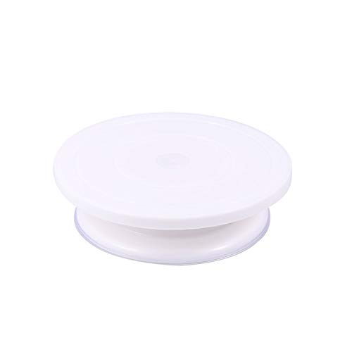 Turntables - Glass Diy 30cm Round Plastic Cake Decorating Turntable Can Be Rotated Manually Cream Desk Pastry - Thorens Audio Amp High Preamp Parts Record Sales Vinyl Technica