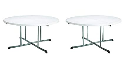 Superieur Image Unavailable. Image Not Available For. Color: Lifetime 25402  Commercial Round Fold In Half Table ...
