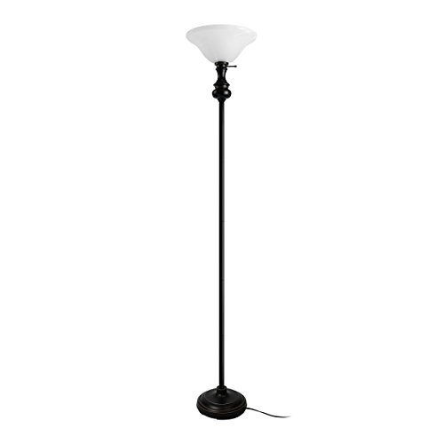Torchiere lamp parts torchiere glass amazon oneach modern torchiere floor lamp 150 watt 7175 inch floor light with frosted glass shade for reading living room and bedroom aloadofball Choice Image