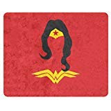 Rectangle Mousepad Gaming Computer Notebook Laptop Mouse Pad with Wonder Woman Image Print -