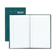 Record Book, Record-Ruled, 300 Pages, 12-1/4''x7-1/4'', Blue Qty:6