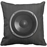 Music Speaker Funny Throw Pillow Cover 18x18