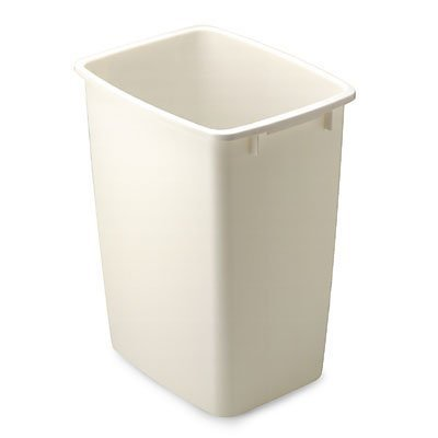 Rubbermaid Large Rectangle Wastebasket 36 Quart (Bisque)
