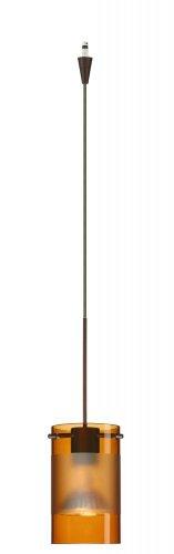 Besa Lighting XP-6524EG-BR 1X50W Mr16 Scope Pendant with Armagnac/Frost Glass, Bronze Finish
