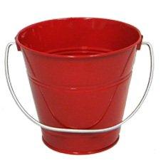 ITALIA 10424 5.5 x 6 In. Red Metal Bucket - 6 Pack