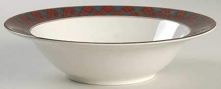 - Arita Tartan Plaid Round Vegetable Bowl 9 1/4