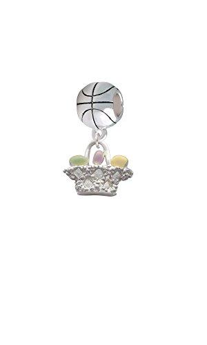 Easter Egg Basket - Basketball Charm (Basketball Easter Basket)
