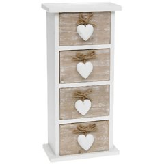 Amazon.com: Shabby Chic Provence Heart Four Drawer Mini Chest by ...